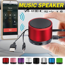 цена на Portable Wireless Bluetooth Speaker 3D Stereo Music Loudspeaker With USB AUX For PC MP3 Outdoor Sport Camping Mini FM Speakers