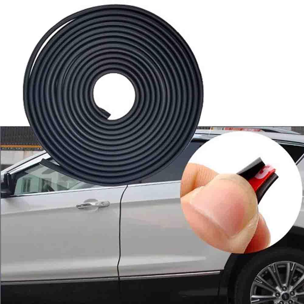 JEAZEA 5 M Voiture SUV Porte Anti Collision Garniture Bord Scratch Protecteur Couvre Flexible-Froid En Caoutchouc Bande De Voiture de coiffure Decal