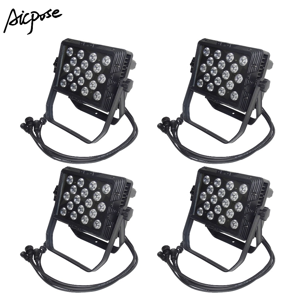 Stage Lighting Effect Commercial Lighting Original 4pcs/lots Outdoor Led Lights 18x12w Rgbw 4in1 Wall Washer Ip65 Waterproof 18*12w Led Stage Lighting Square Par Light To Ensure Smooth Transmission