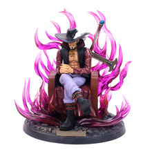 цена на One Piece Shichibukai Dracule Hawk Eyes Mihawk GK Statue Figure Collection Model Toy EO15