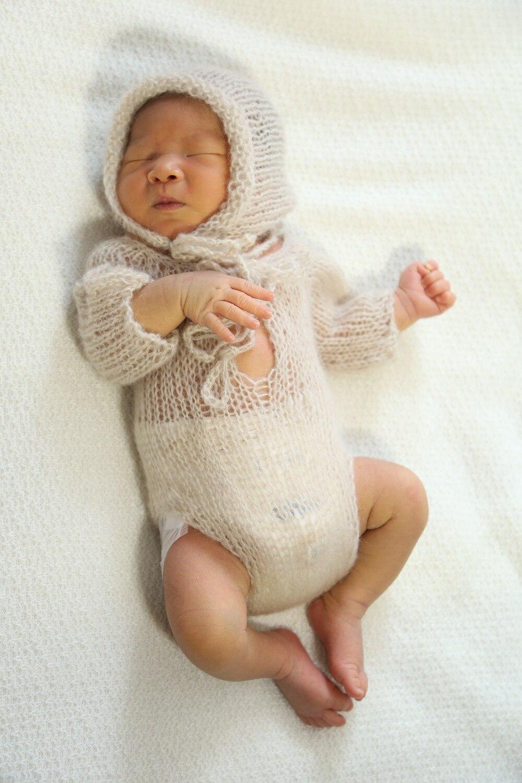 Foshnje e thurur romper me mëngë të gjata të bëra me dorë të - Veshje për bebe