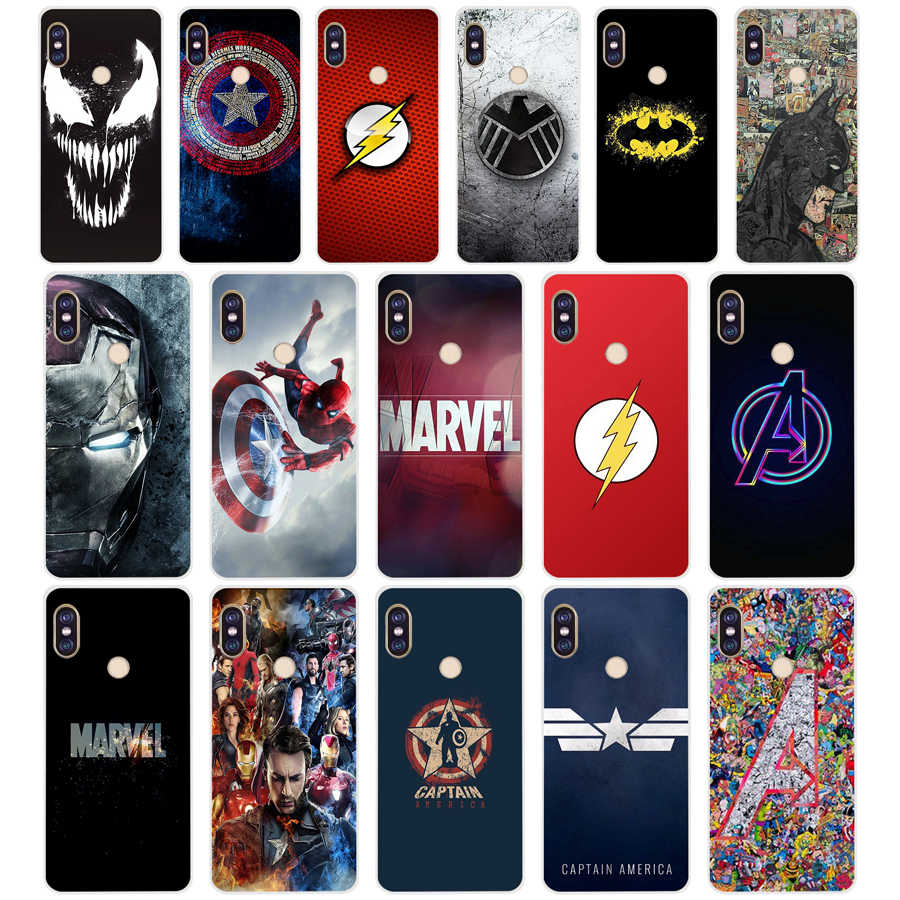 155 Marvel Avengers Captain America Shield TPU Soft Silicone Telefoon Case voor Xiaomi Redmi Opmerking 4 4X5 7 6 pro plus a2 lite Cover