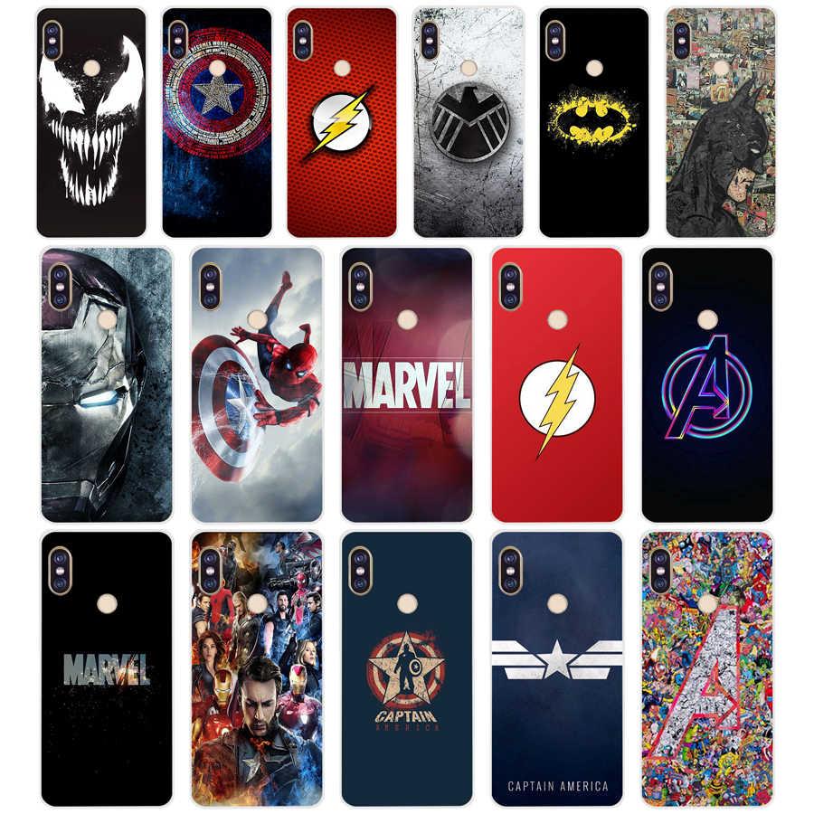 155 Marvel Avengers Kaptan Amerika Kalkanı TPU Yumuşak Silikon xiaomi için telefon kılıfı Redmi Not 4 4X5 7 6 pro artı a2 lite Kapak