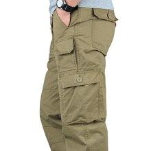 все цены на ICPANS Tactical Pants Men Military Army Black Cotton ix9 Zipper Streetwear Autumn Winter Cargo Pants Men military style 2019 онлайн
