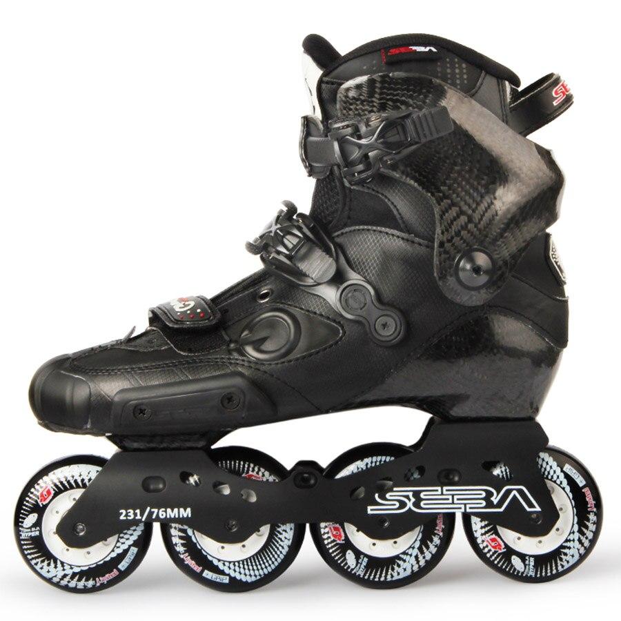 Japy Skate Original Newest SEBA IGOR Professional Adult Inline Skates Carbon Fiber Shoes Slalom Slide Free
