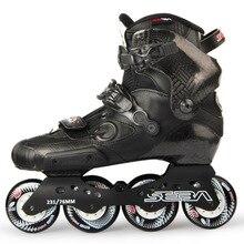 اليابانية سكيت الأصلي أحدث سيبا IGOR المهنية الكبار حذاء تزلج بعجلات ألياف الكربون أحذية الانزلاق الشرائح التزلج الحرة Patines