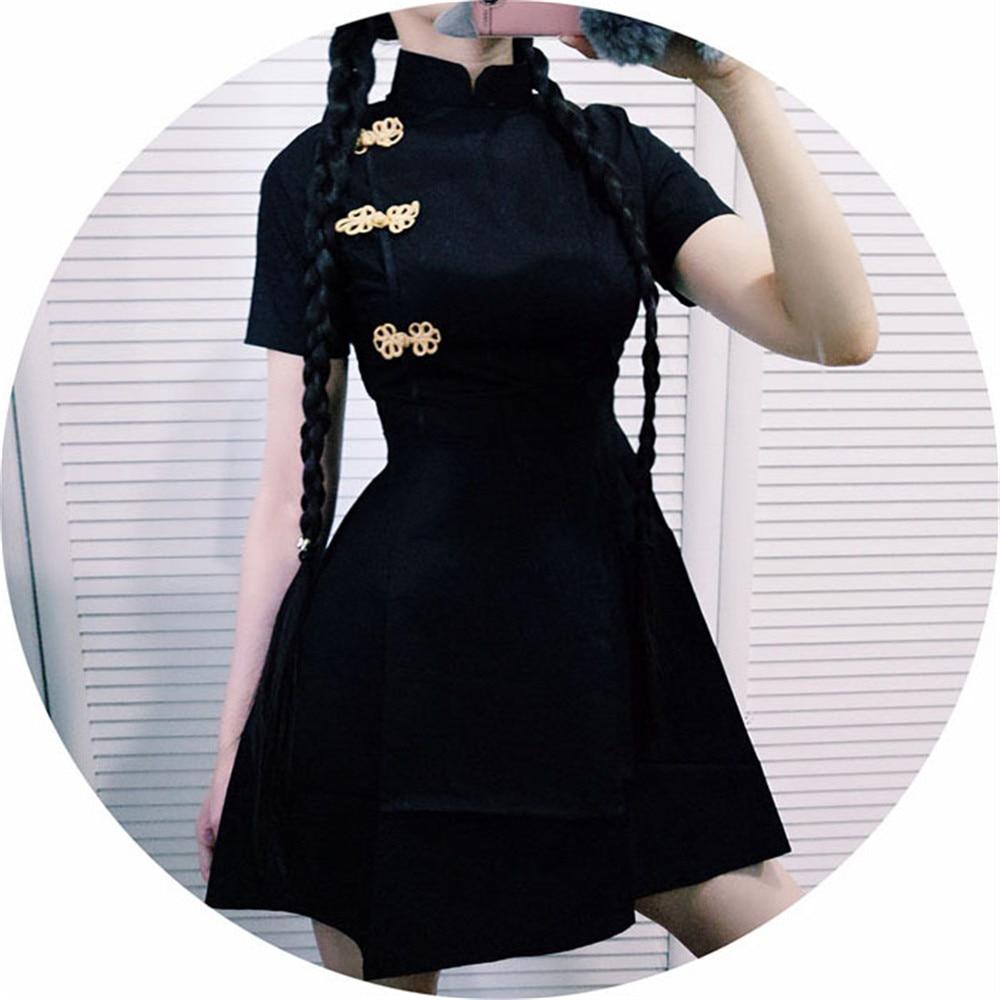 Cosplay Costumes Cheongsam-Dress Harajuku Japanese Chinese-Style Gothic Lolita Vintage