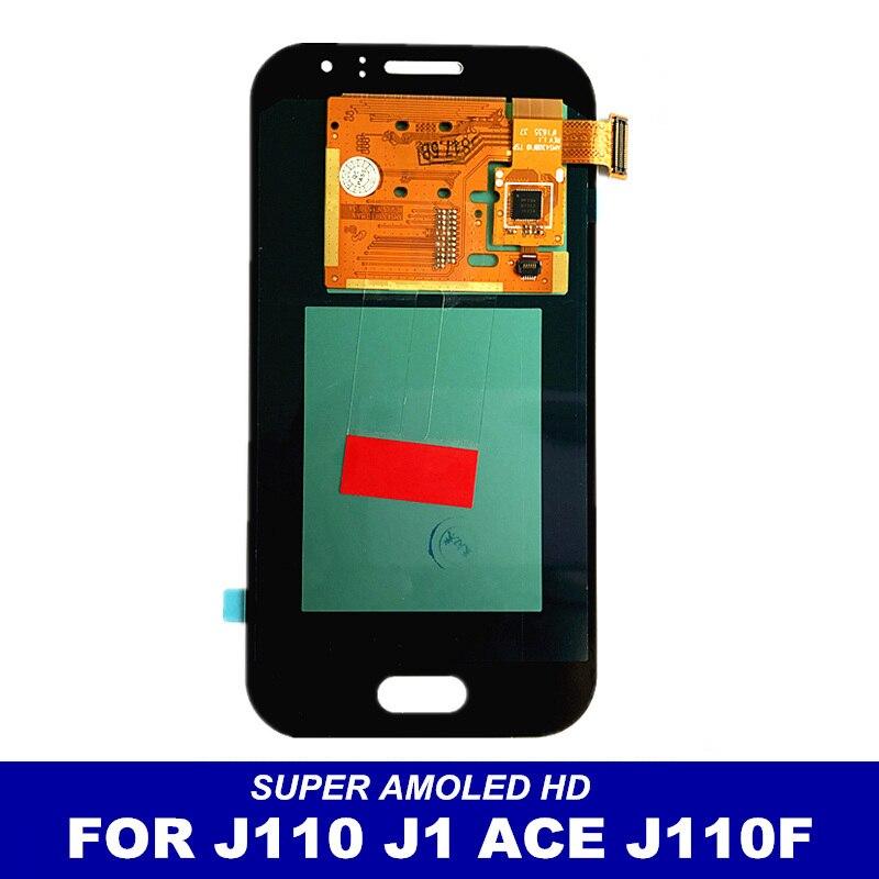 imágenes para 100% Probado AMOLED pantalla LCD de Reemplazo Para Samsung Galaxy Ace J1 J110 SM-J110F J110H J110FM Pantalla Pantalla Táctil Digitalizador Asamblea