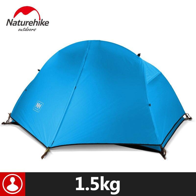Naturehike уличная палатка с ковриком для кемпинга 1 человек 20D силиконовая ткань 4 сезона Сверхлегкая двухслойная палатка 1,3 кг 1,5 кг - 2