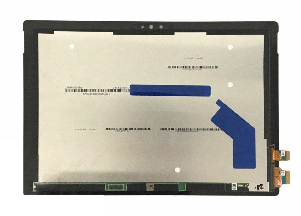 Pour Microsoft Surface Pro 4 1724 LTN123YL01 LCD Affichage Matrice avec Écran Tactile Digitizer Capteur Tablet PC Pièces De Rechange