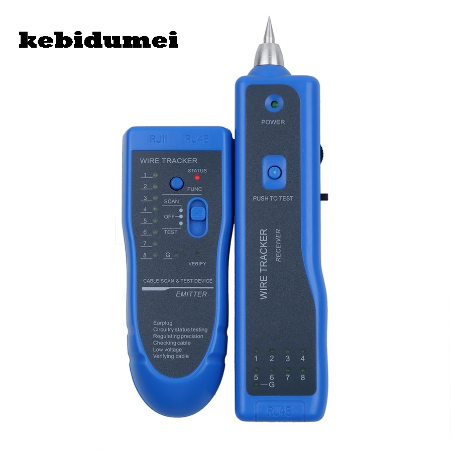 Kebidumei Newest Lan Network Cable Tester Rj11 Rj45 Cat5 Cat6 Telephone Cat 5 Wiring Diagram Get Free Image About Blue Line Finder Wire Tracker Diagnose Tone Tool Kit