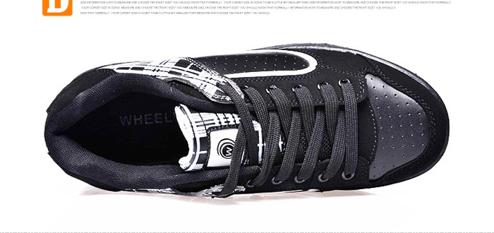 New Fasion Children Shoes With Wheels Girls Boys Roller Skate Shoes For Kids Sneakers With Wheels Wheelies Shoes Eu Size 29-40 DTW001 (8)