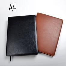A4 notebook foderato di carta 100 fogli (200 pagine) linea di pagine di appunti agenda diario Organizzatore ufficiale Negozio di forniture per ufficio di Cancelleria