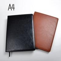 Cadernos A4 forrado de papel de 100 folhas (200 páginas) linha de páginas notepad jornal diário agenda Organizador Loja de artigos de Papelaria do escritório suprimentos