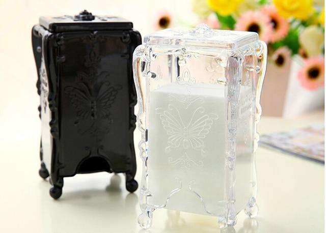 European Court Style Cotton Swab Box Q Tip Storage Holder Cosmetic Makeup  Tool Women Storage
