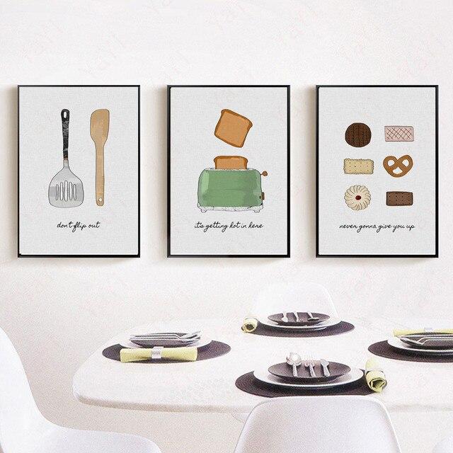 HAOCHU Haus Küche DIY Malerei Geschirr Lebensmittel Abstrakten ...