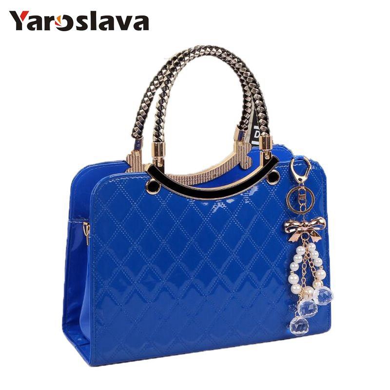 Brand bag cute tote 2018 New Fashion Designer Large PU Leather Tote Shoulder Bag Handbag Ladies Messenger chain plaid LL117 new cute kids tote girls shoulder bag mini bag bowknot handbag designer pu children baby tassel messenger bag women bag