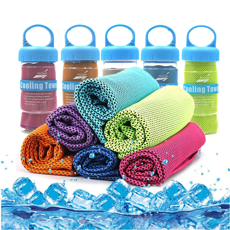 Microfiber Sport Towel Rapid Cooling Ice Face Towel Quick-Dry Beach Towels Summer Enduring Instant Chill Towels for Fitness Yoga(China)