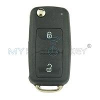 2 sztuk Samochód zdalnie klucz HU66 passat Jetta 2 przycisk 434 Mhz ID48 remtekey 5K0837202AD dla VW