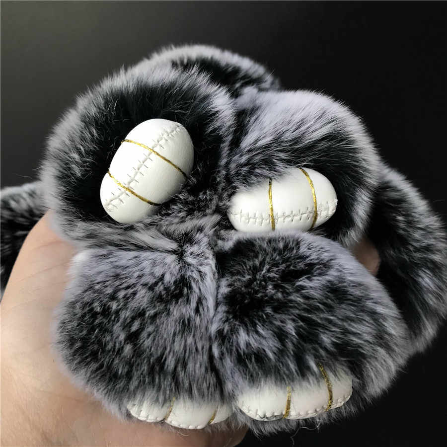 """Magicfur-1 шт. 15 см 6 """"Мороз Настоящий мех кролика милый кролик игрушка брелок сумка Жук Шарм брелок pendan аксессуары"""