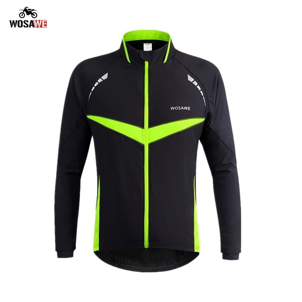 WOSAWE Winter Reflective Motorcycle Jacket Men Thermal Windproof Waterproof Long Sleeve coat Clothing Wear Motocross Jackets