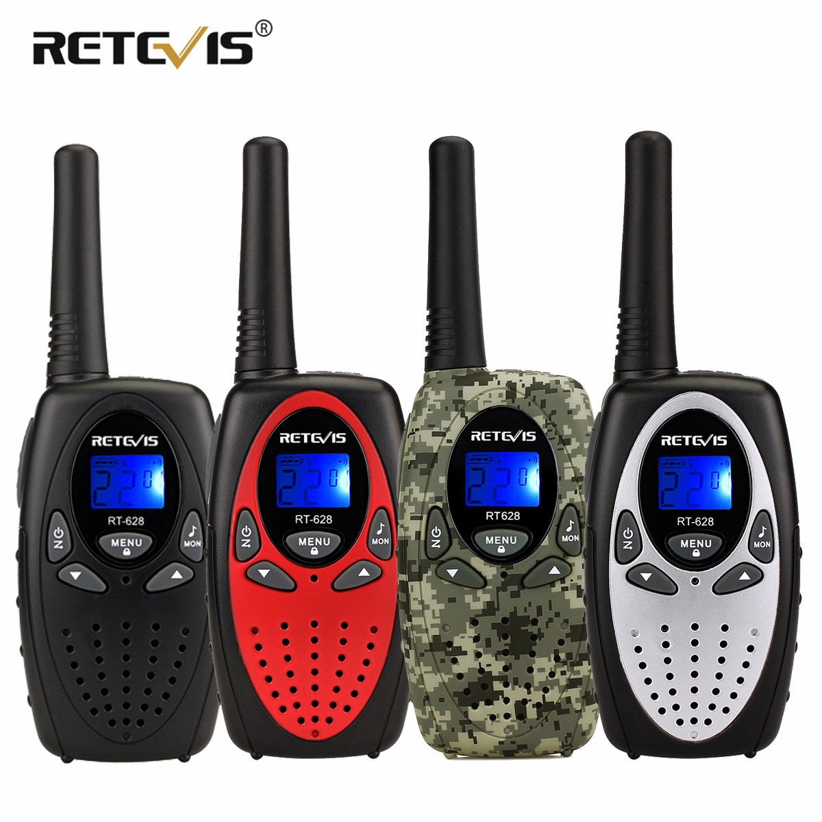 2pcs RETEVIS RT628 Mini Walkie Talkie Kids Radio 0.5W UHF Frequency Portable Radio Station Handheld Radio Gift(China)