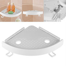 2019 hot  faroot Bathroom Plastic Shelf Qrganizer Corner Snap Up Storage Holder Shelves Shower Wall Shampoo Soap