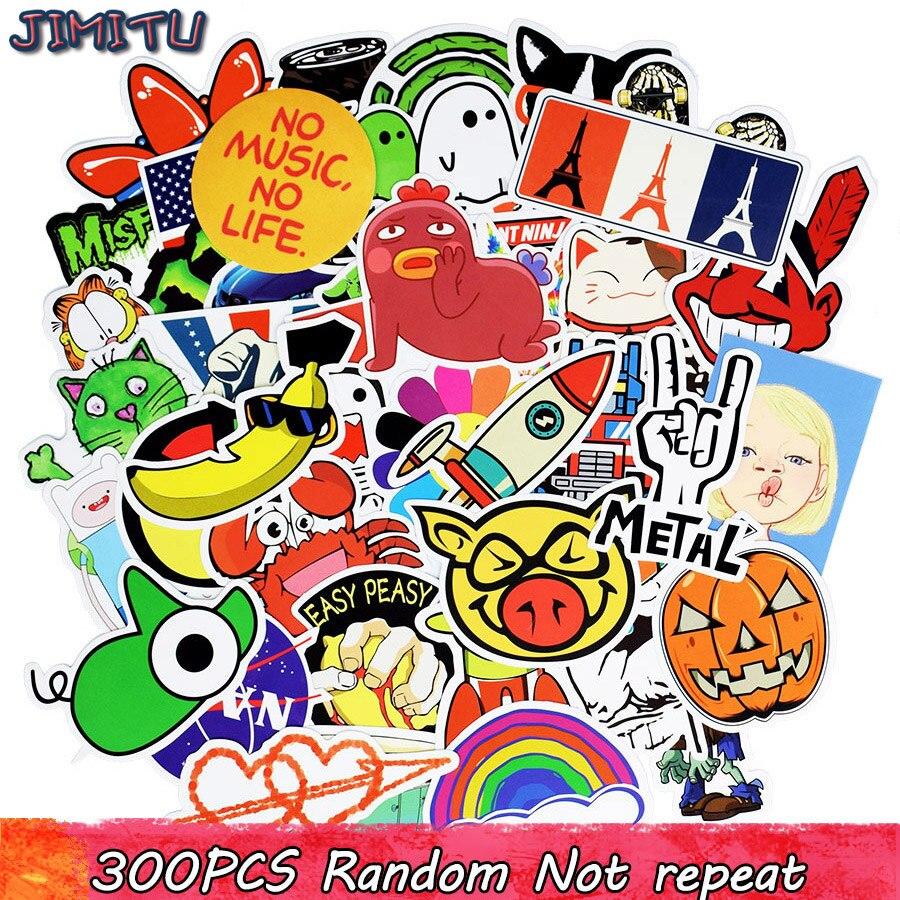 300pcs גרפיטי קריקטורה סטיקר מדבקות - צעצועים קלאסיים