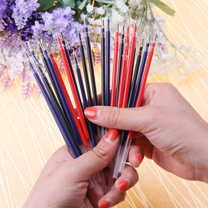 20 PCS Neutral Ink Gel Pen 0.5mm Refill Neutral Pen Good Quality Bullet Refill 3 Colors For Office And School High Quality 20 pcs pack neutral ink gel pen refill neutral pen refill black blue red 0 5mm 0 38mm bullet refill office and school