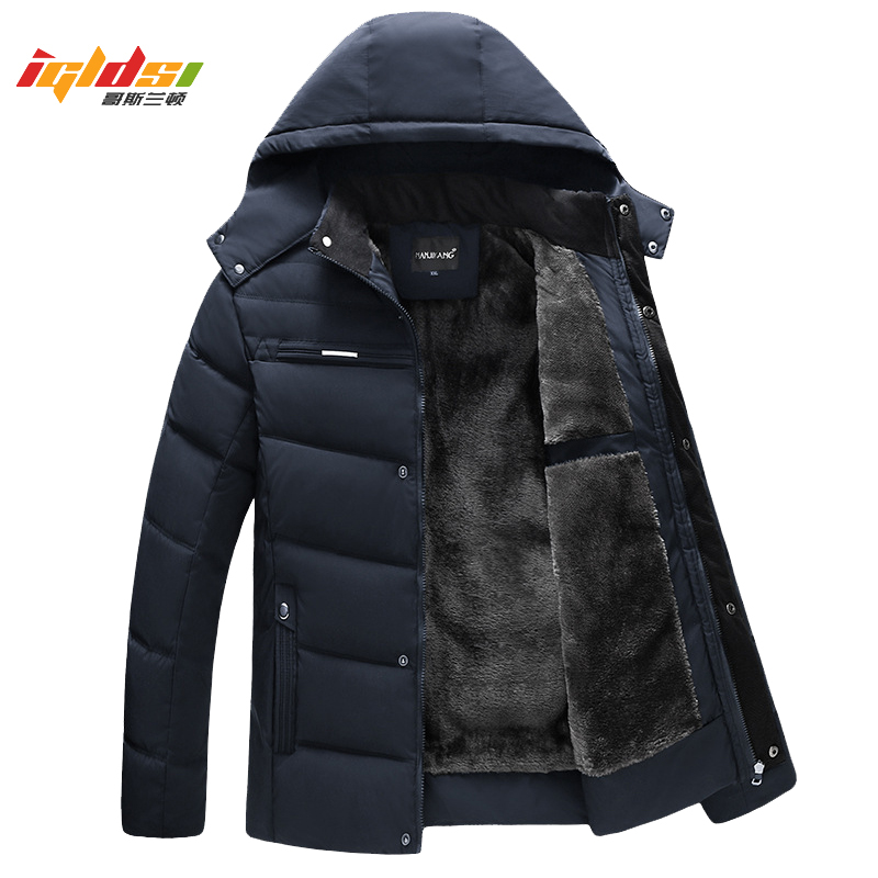 Men Winter Down Jacket And Coat 2018 New Casual Hooded Jackets Warm Fleece Down Parkas Male Fashion Thick Outwear Coats XL-4XL