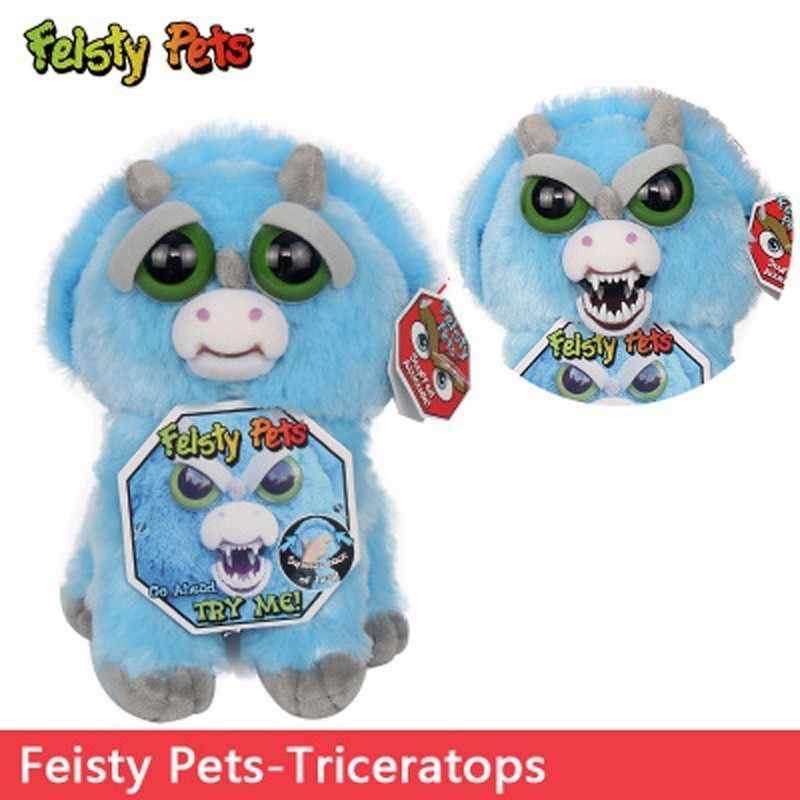 Злющий домашних животных Единорог Мишка кошка слон мягкие игрушки забавные выразительный, плюшевый игрушка панда куклы для детские рождественские подарки