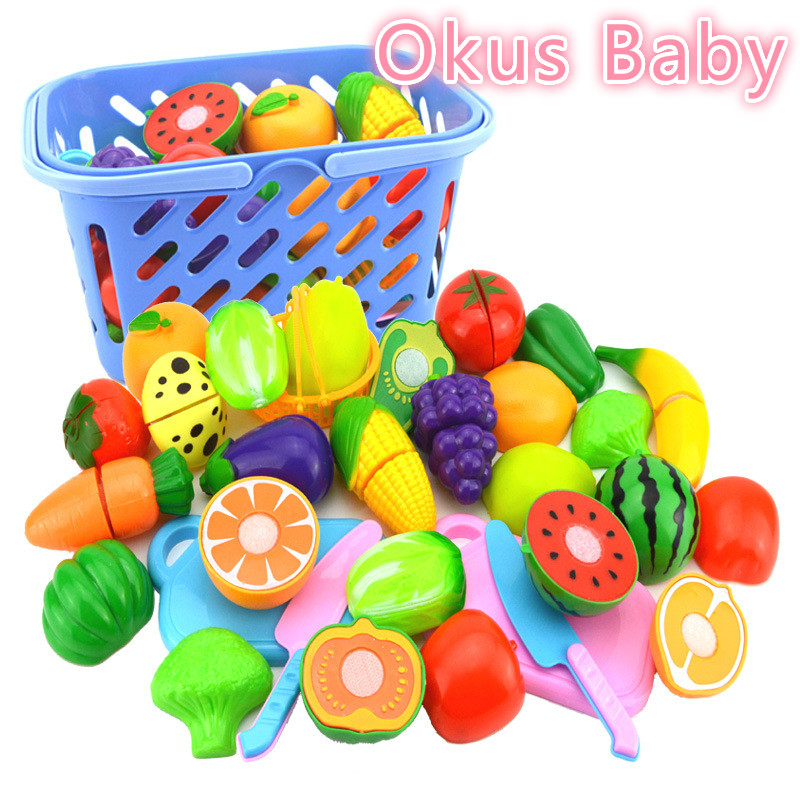 2018 Brand New Plastic Fruit Vegetables Cutting Toy Early Development And Education Toy For Baby