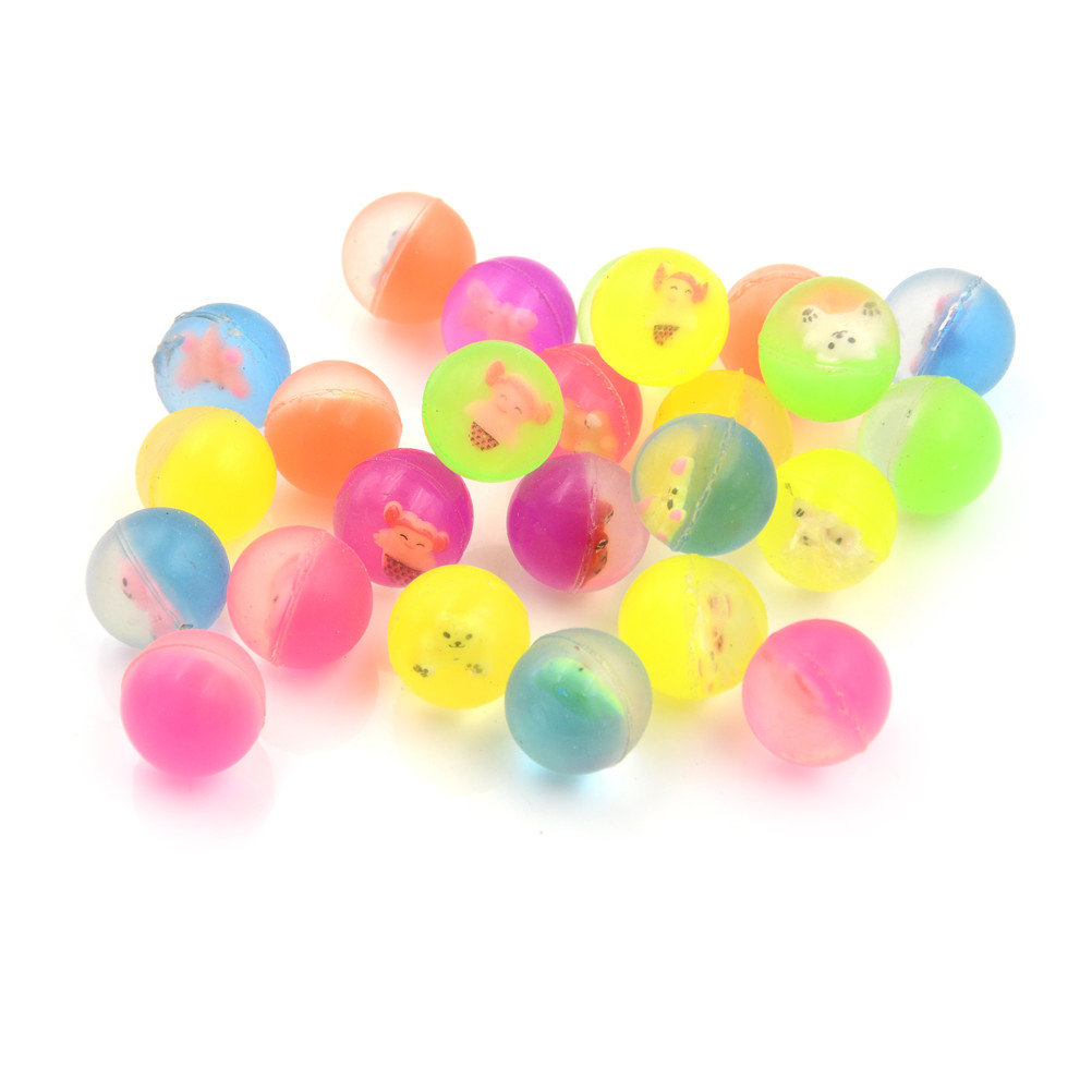 10 шт./пакет надувной мяч Высокое качество ребенок эластичный резиновый мяч дети пинбол 27 мм - Цвет: random color