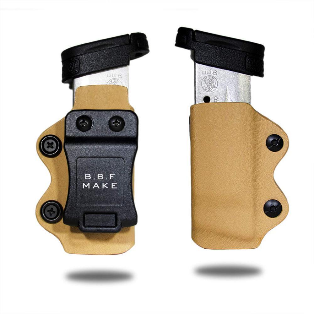 B.B.F MAKE KYDEX Holster Magazine Bag Gun Clip Case Glock 17/Glock 19/Glock 26 22 23 27 31 3233 Magazin Pouch Accessories