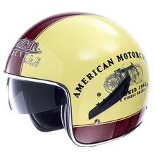 Genuine Marushin  C139B Half Helmets Retro Pilot Open Face Vintage Motorcycle Helmet Moto motocicleta Casque Casco Capacete