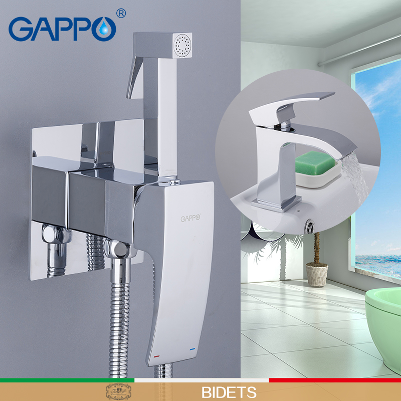 GAPPO Sanitary Ware Suite brass basin taps with bidet faucets brass torneira do anheiro bathroom system shower mixers toilet tap