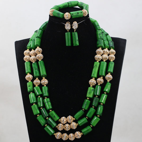 Fashion Green Coral Beads Jewelry sets Nigerian African Wedding Bridal/Women Beads Necklace Jewelry Set Free Shipping CJ875 african wedding beads necklace green coral nigerian bridal jewelry sets trendy coral fashion jewelry set free shipping abk079