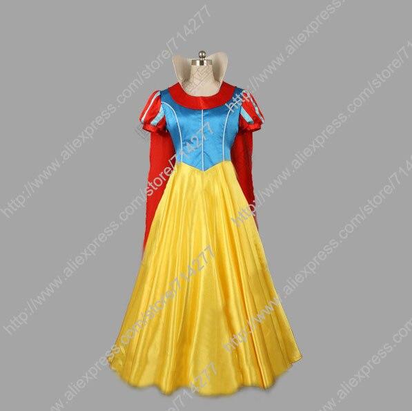 9eb16ab3ebc Бесплатная доставка на заказ дешевые принцесса снег белое платье костюм (с  плащ) от Белоснежка