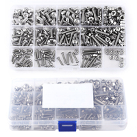 440pcs Mayitr M3 M4 M5 Hex Socket Screws Stainless Steel Button Head Bolts Nuts Assortment Kit