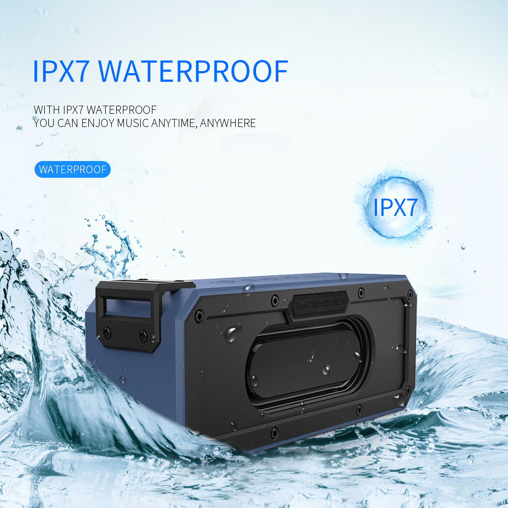 40W Bluetooth Speaker IP7X Waterproof Portable Column Speakr Super Bass Subwoofer Soundbar Support FM Radio Type-C USB Computer40W Bluetooth Speaker IP7X Waterproof Portable Column Speakr Super Bass Subwoofer Soundbar Support FM Radio Type-C USB Computer