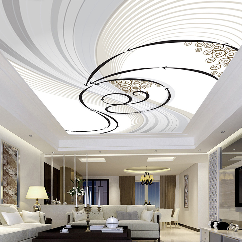 Custom Ceiling Mural Wallpaper Wall Cloth Modern Abstract Art Pattern Living Room Bedroom Ceiling Decoration Papel De Parede 3D