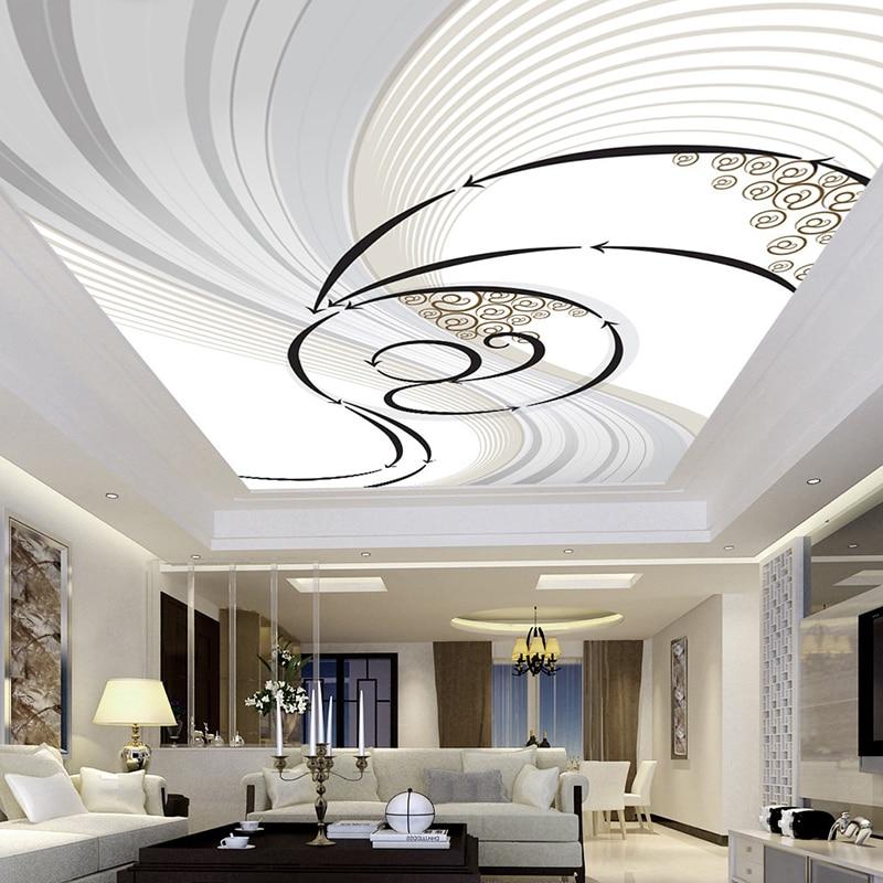 Custom Ceiling Mural Wallpaper Wall Cloth Modern Abstract Art Pattern Living Room Bedroom Ceiling Decoration Papel De Parede 3D
