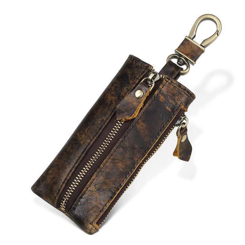 Чехол для ключей из натуральной кожи, кошелек, смарт-сумка для автомобиля, чехол с кольцом, органайзер для мужчин с монеткой, брелок для ключей