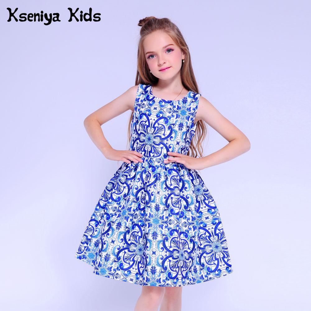 Kseniya Kids Flower Girls Dress Princess Girl Party Dresses For Girls Summer Dress Baby Girl Clothes Children Graduation Gowns baby girls dress rose floral a line princess dress girls european style baby girl clothes kids clothes 2 10y flower girl dresses