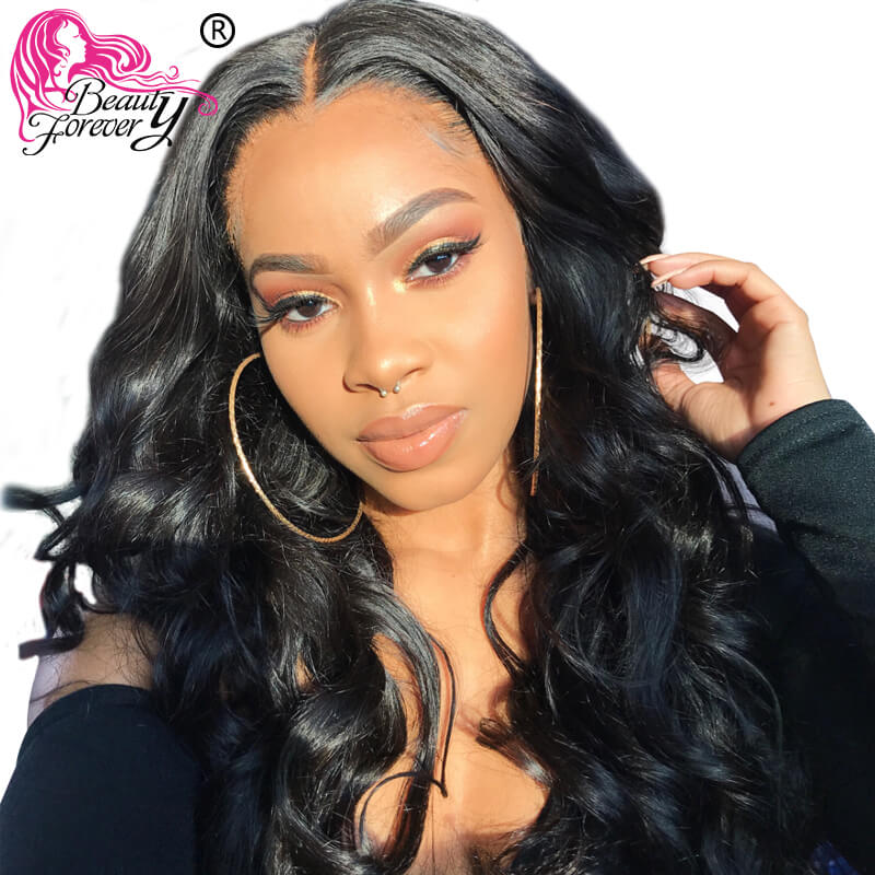 Beauty Forever 13 4 6 Brazilian Body Wave Lace Front Wigs Remy Human Hair Wig with