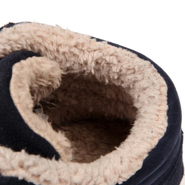 Cheapest Winter Boots Men Fashion Fur Flock Leather Winter Ankle Boots Men Warm Casual Men Boots 37-48