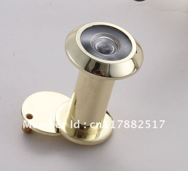 Pure Copper High Definition Optical Wide Angle Cat Eye Door Mirror  Burglary Resisting