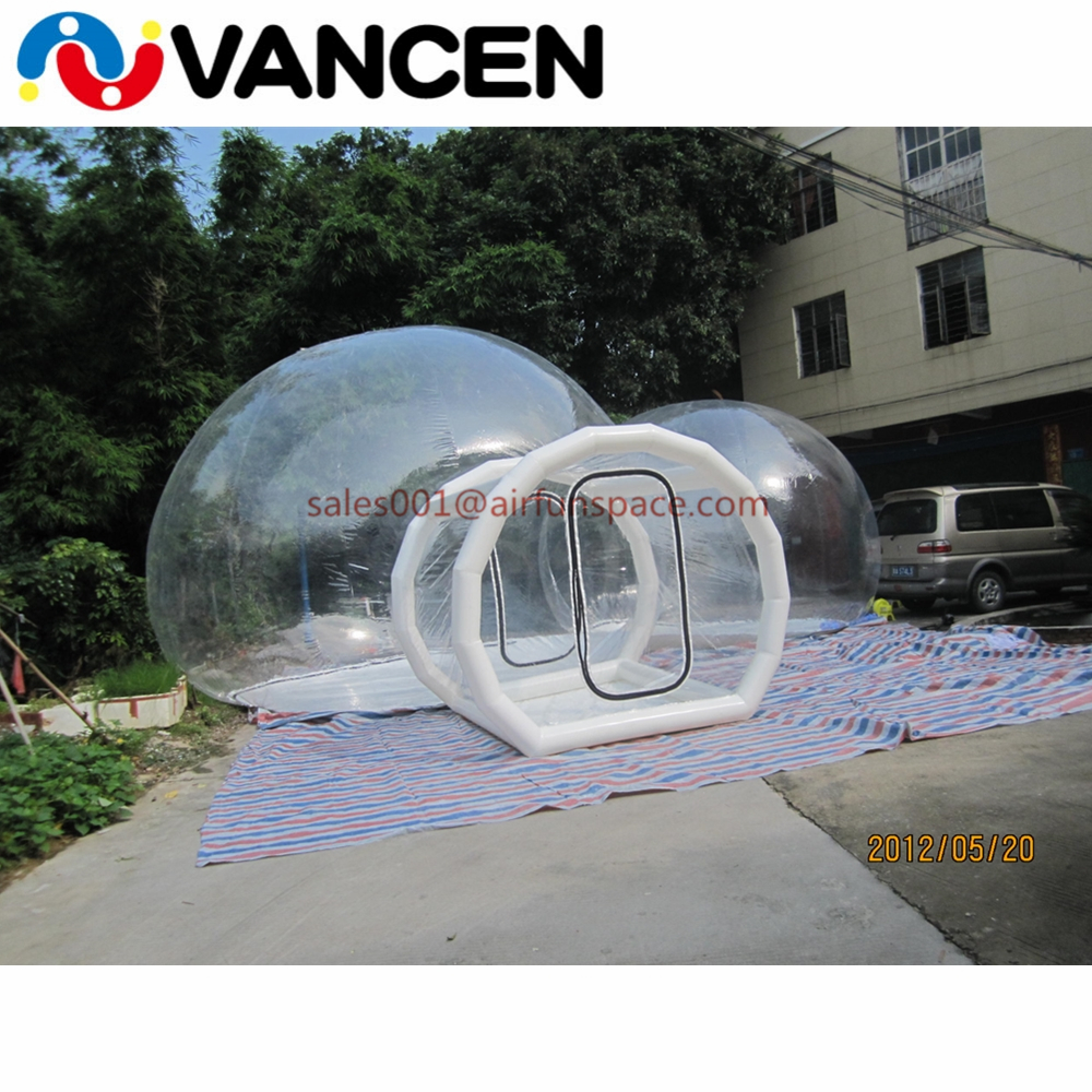 4mH Double rooms tent home used inflatable games transparent bubble tent cheap inflatable clear dome tent for camping - 2
