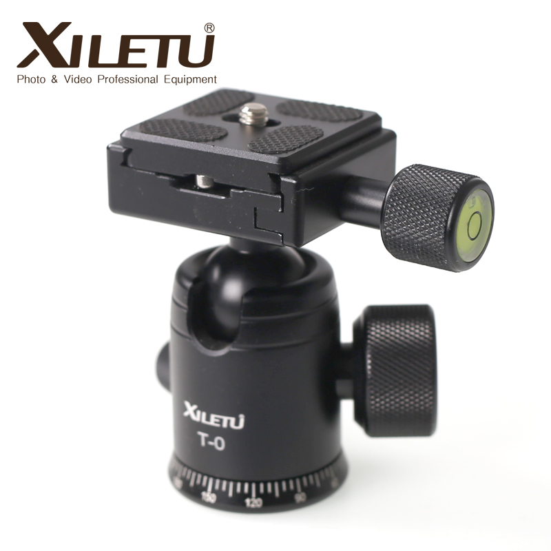 Sangat popular Xiletu T-0 Portable Light weight Ball Head & Clamp and Mounting Plate For Tripod 1/4 '3/8'Screw For Digital