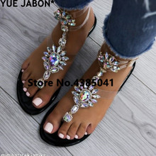 Plus Size 43 2019 shoes woman sandals women Rhinestones Chai